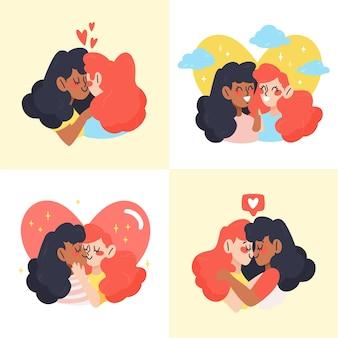 素敵なバレンタインのカップルコレクション