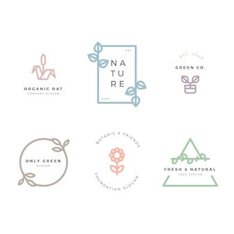 Минимальный стиль коллекции логотипов