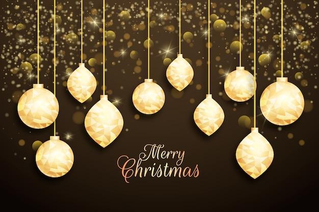 多角形スタイルのクリスマス背景