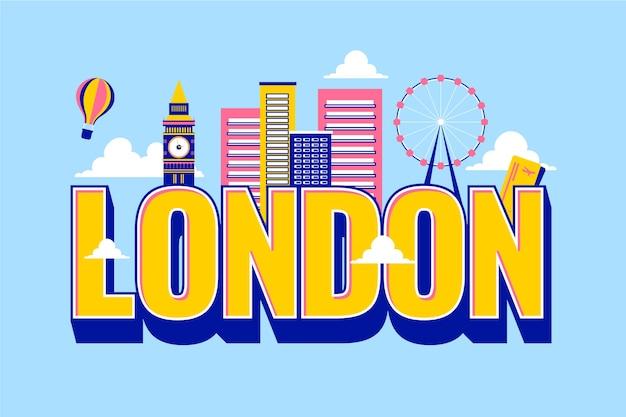 Городские надписи лондон с воздушного шара
