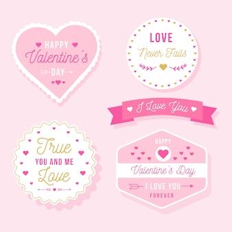 День святого валентина этикетка / коллекция значков