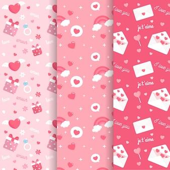 バレンタインのパターンのコレクション