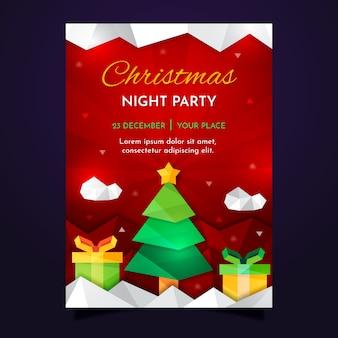 Рождественский постер в геометрическом дизайне
