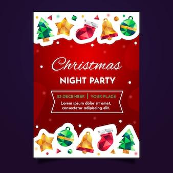 Рождественский постер с геометрическими элементами
