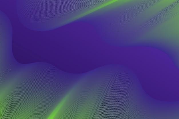 グラデーションバイオレットと黄色の暗い波状の背景