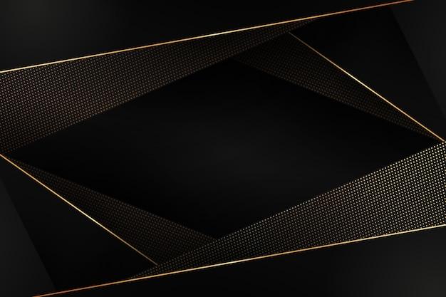 黄金の詳細で多角形の背景