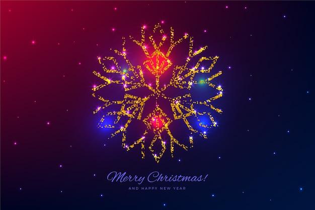 美しい木の装飾クリスマスの背景