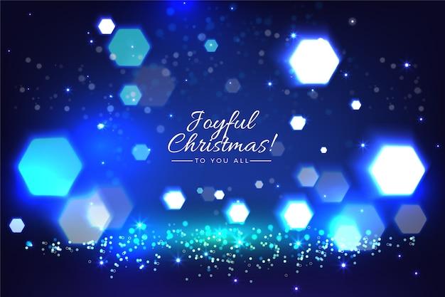 キラキラ効果でぼやけたクリスマス背景