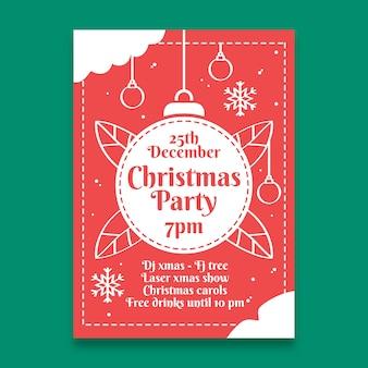 Рождественский постер шаблон в стиле структуры
