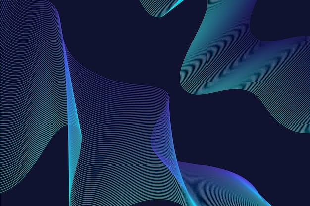 壁紙スタイルの暗い波状