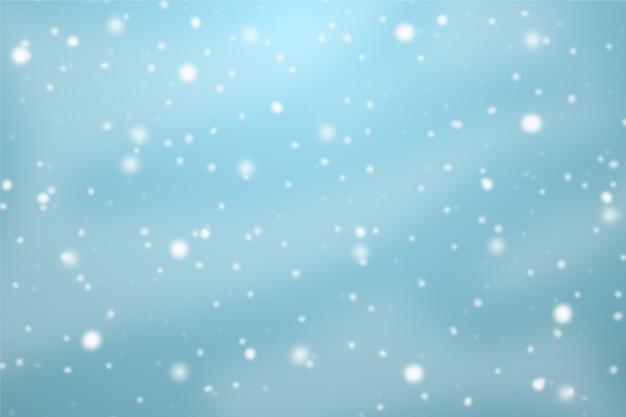 背景の降雪テーマ