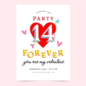 バレンタインの日パーティーのテンプレート