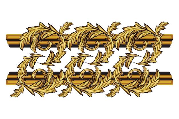 Декоративная золотая рамка