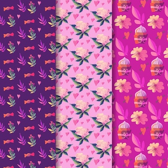 バレンタインの日パターンコレクションデザイン