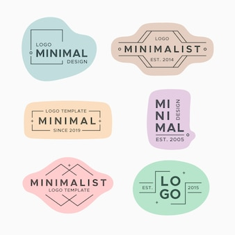 パステルカラーの最小限のロゴコレクション