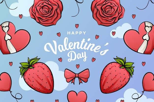 バレンタインの日と美しいフラウイング