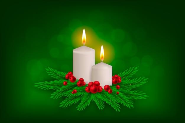 Фон с рождественской темой