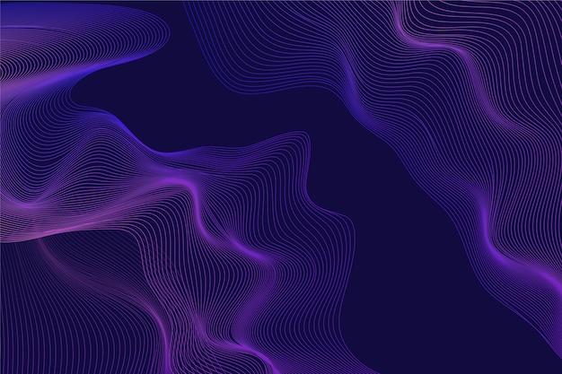 暗い波状の背景デザイン