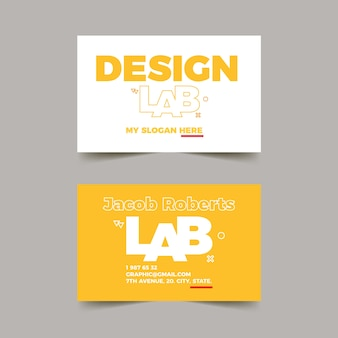Визитная карточка графического дизайнера с забавным шаблоном