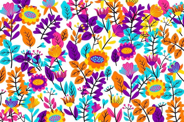 Красочный тропический цветочный фон