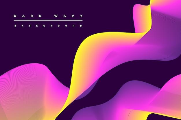 波打つ色と暗い背景