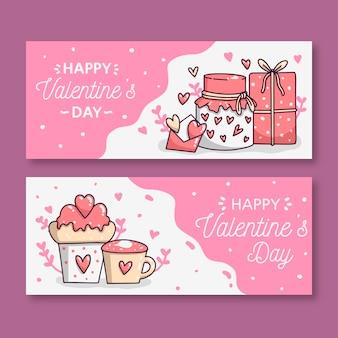 手描きのバレンタインバナー