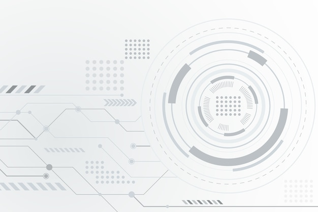 未来的な白い技術の背景