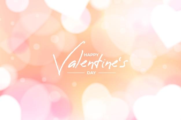 ぼやけたバレンタインデーの背景概念