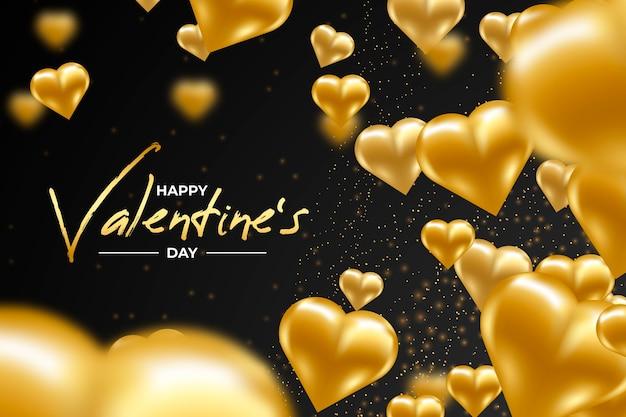 黄金のバレンタインデーの背景概念