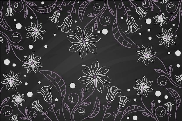 Рисованные цветы на доске, обои