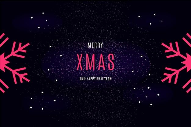 Счастливого рождества сообщение на темных обоях