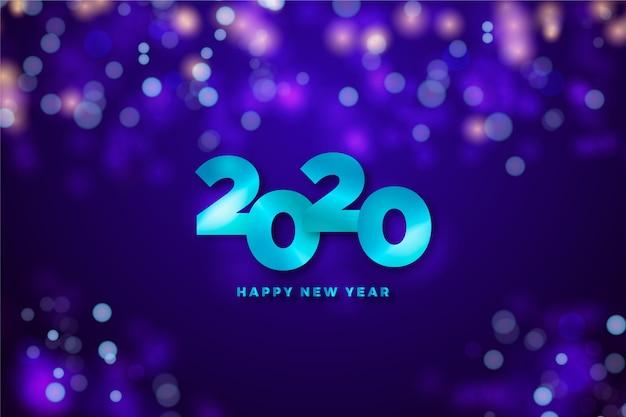 新年の日付と装飾的な背景