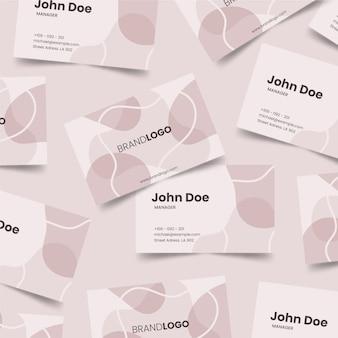 Пастельные пятна на шаблоне визитки