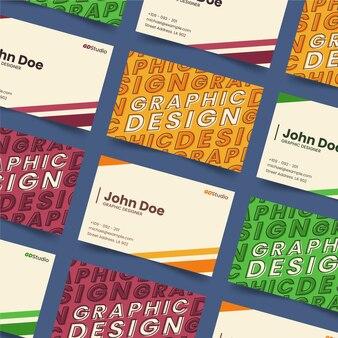 Графический дизайнер смешной шаблон визитной карточки