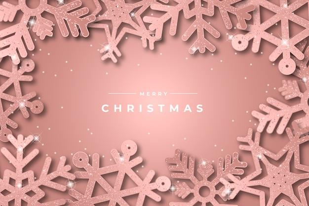 クリスマスの背景にキラキラ効果