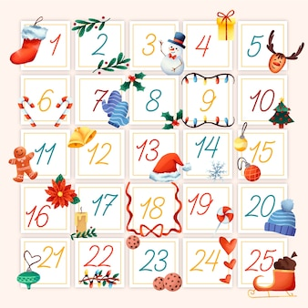 水彩アドベントカレンダーコンセプト