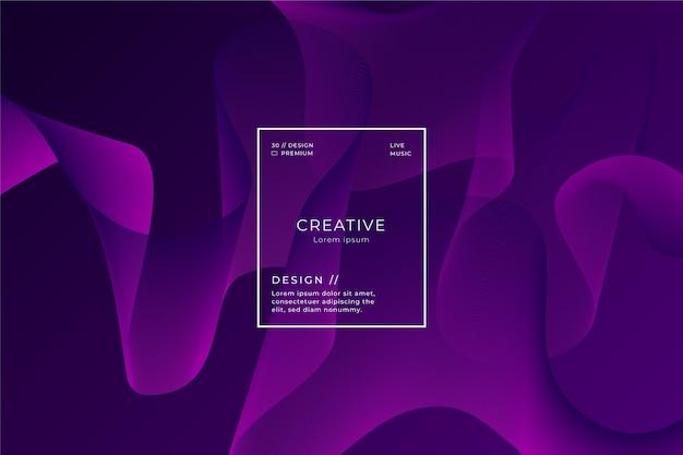 暗い紫色の波状の壁紙