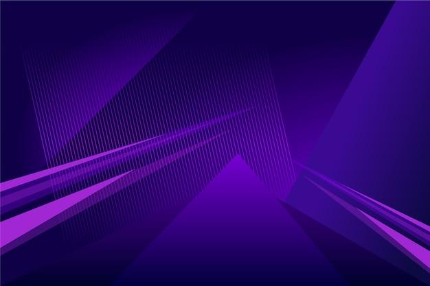 光沢のあるラインと抽象的な未来的な紫色の背景