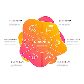 抽象的な形状グラデーションインフォグラフィック