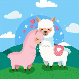 Ручной обращается день святого валентина животных пара