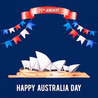 水彩オーストラリアの日