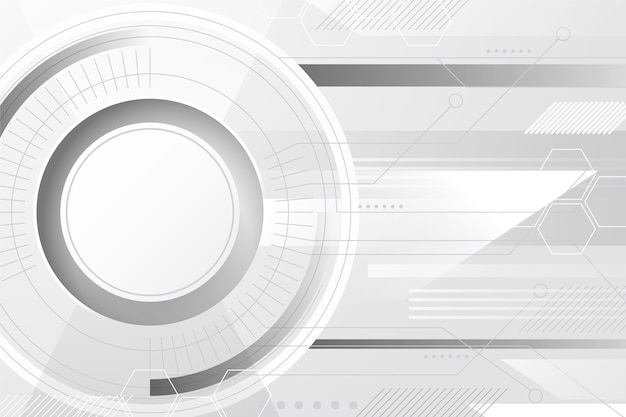 白い技術背景の抽象的なデザイン