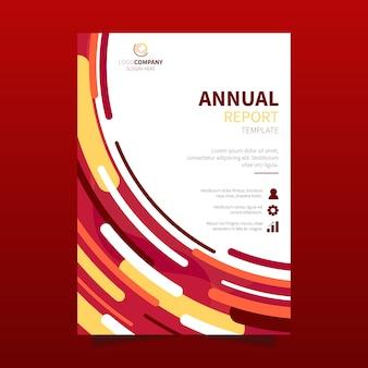 抽象的な年次報告書テンプレート