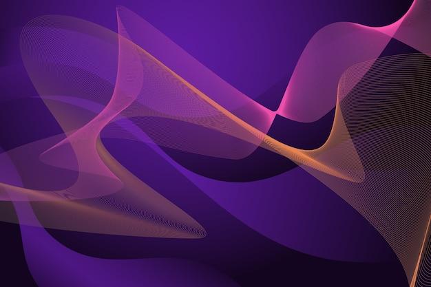 Темные волнистые обои