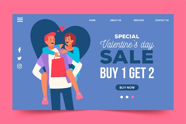 Специальные продажи доступны на день святого валентина