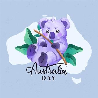 水彩オーストラリアの日の概念