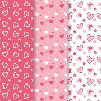 かわいいバレンタインデーのパターンコレクション