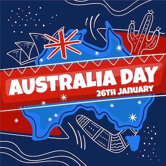オーストラリアの日の図面デザイン