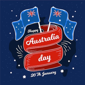 Национальный день австралии концепция рисования