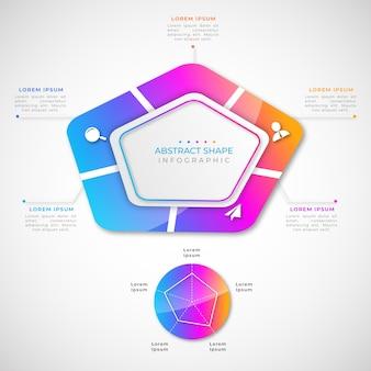 インフォグラフィックグラデーションの抽象的な形